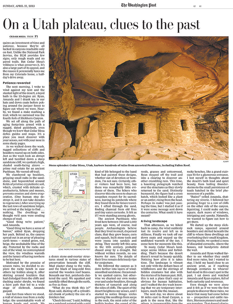 On Utah's Cedar Mesa, Solitude and the Thrill of Discovery