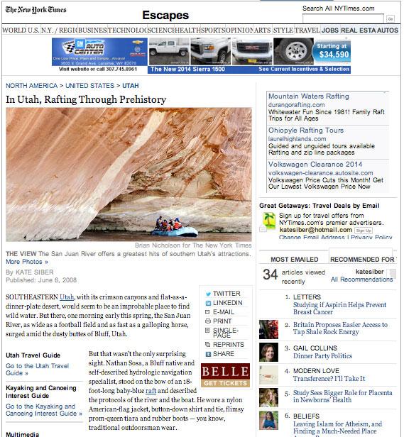 In Utah, Rafting Through Prehistory